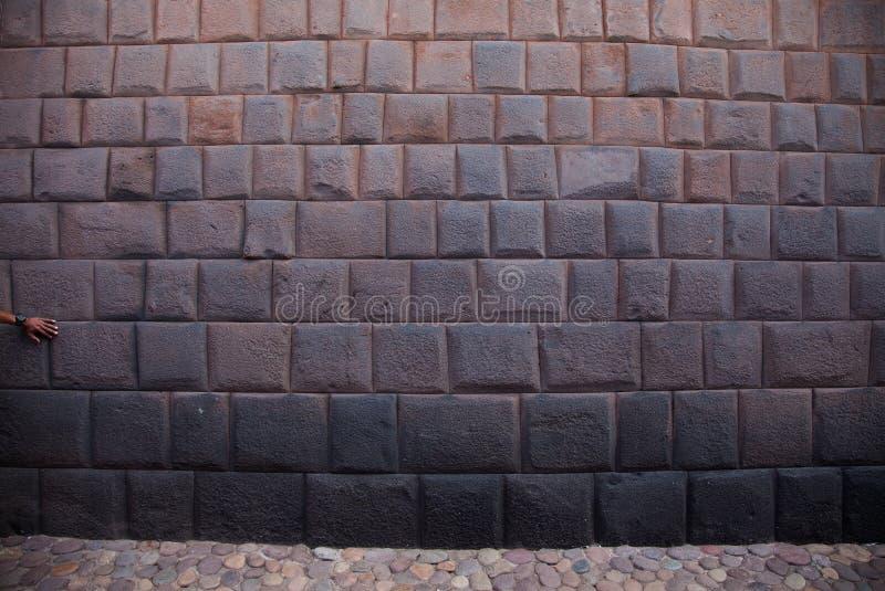秘鲁,印加人墙壁 库存照片
