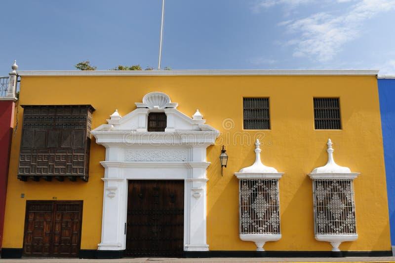 秘鲁,在Trujillo市的视图 免版税库存图片