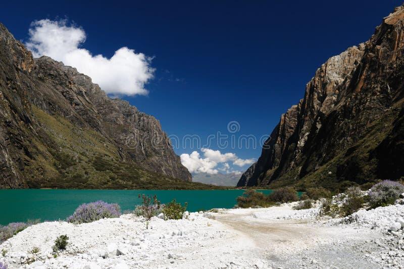 秘鲁,山脉Blanca 库存照片
