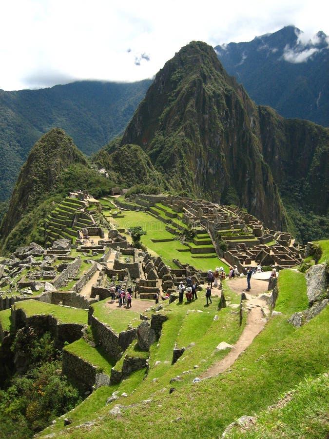 秘鲁:Machu Pichu,在Andines的联合国科教文组织世界遗产名录 库存照片