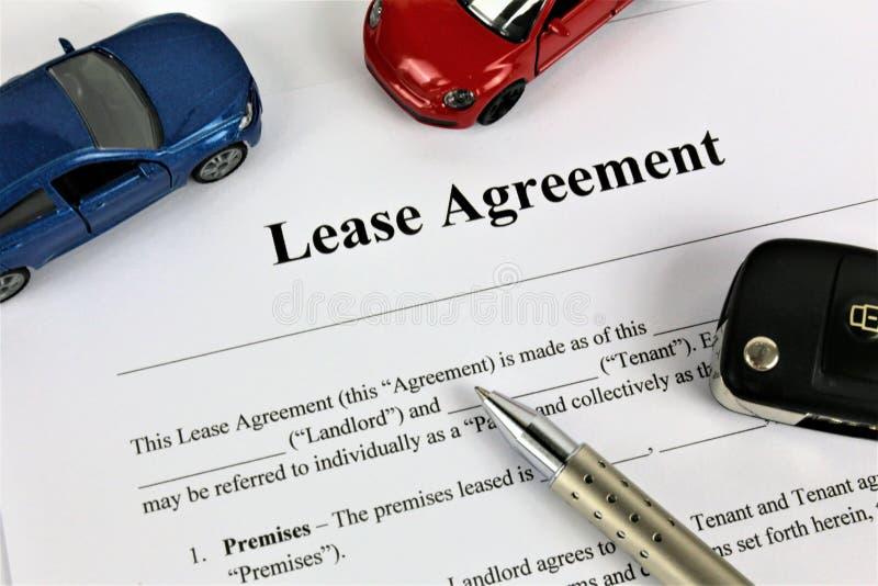租借协定的概念图象 免版税库存照片