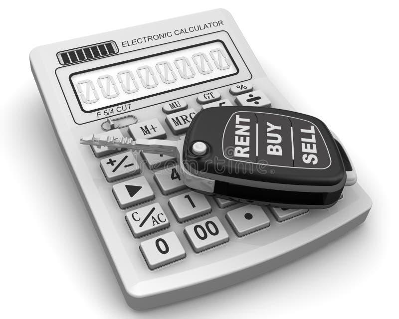 租用,买,卖汽车 向量例证