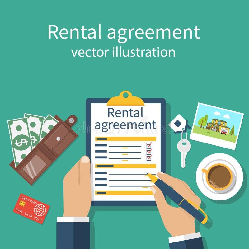 租赁协议形式 库存例证