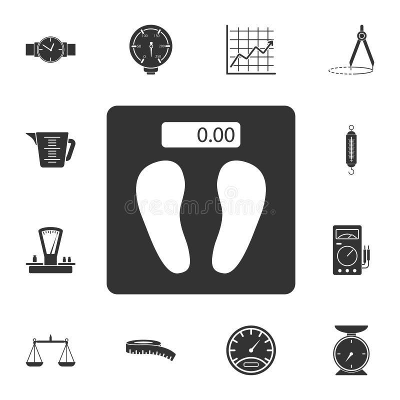 秤象 简单的元素例证 秤从测量的汇集集合的标志设计 能用于网 向量例证