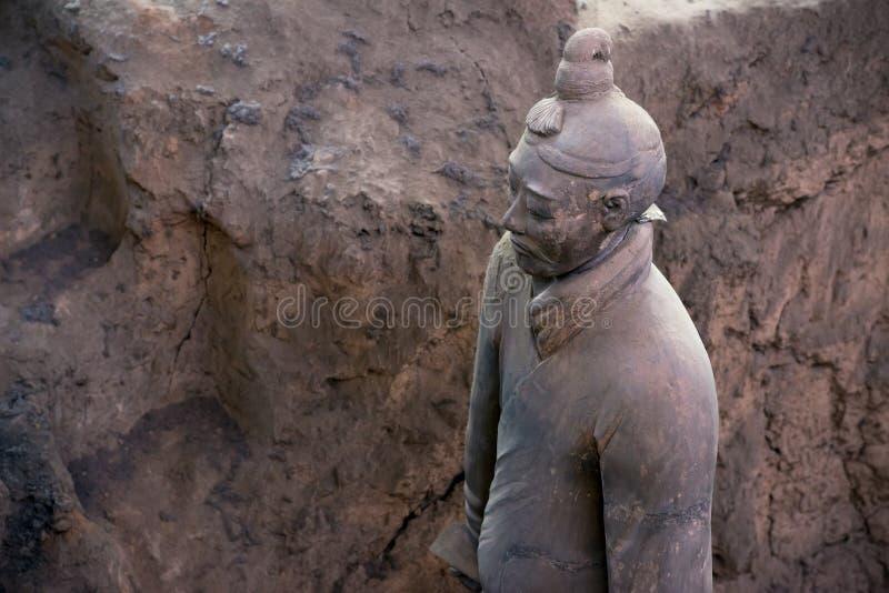 秦始皇兵马俑,中国 免版税库存照片