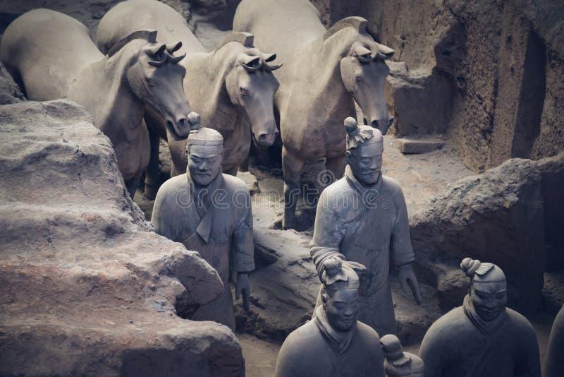 秦始皇兵马俑,中国 库存照片