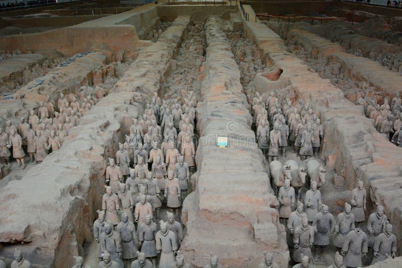 秦始皇兵马俑 西安 陕西 中国 免版税图库摄影