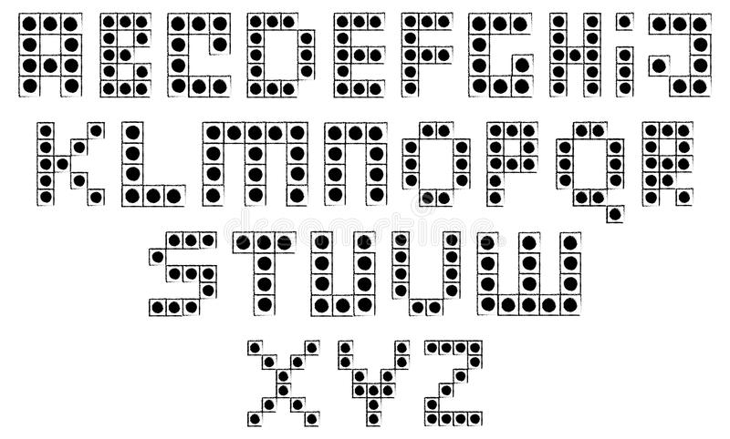 积木字母表 向量例证