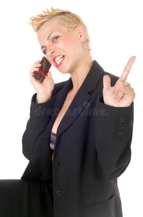 积极的企业废物妇女 库存图片