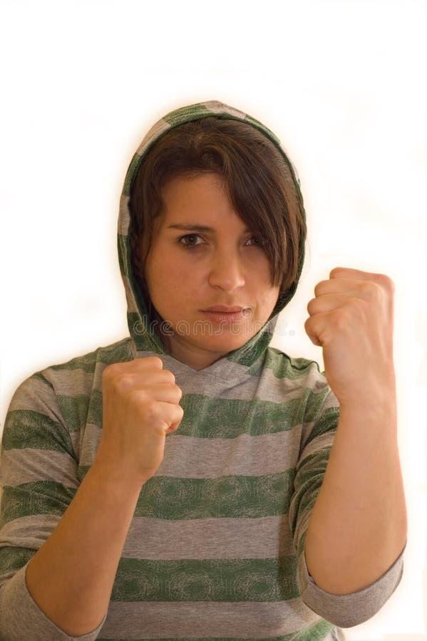 积极的女性恶棍 库存照片