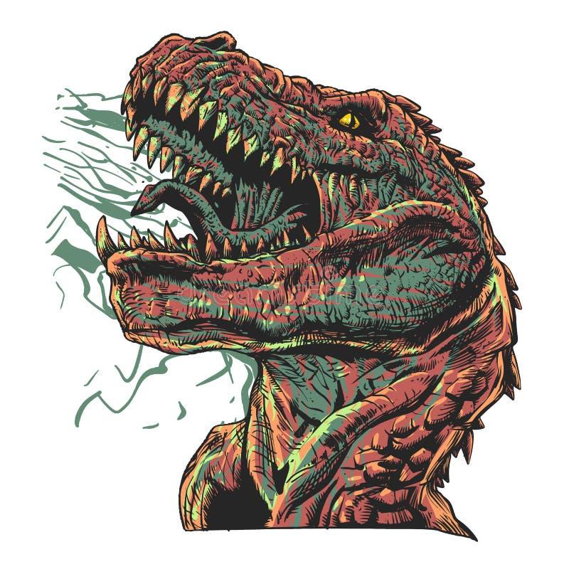 积极的恐龙-侏罗纪妖怪 皇族释放例证