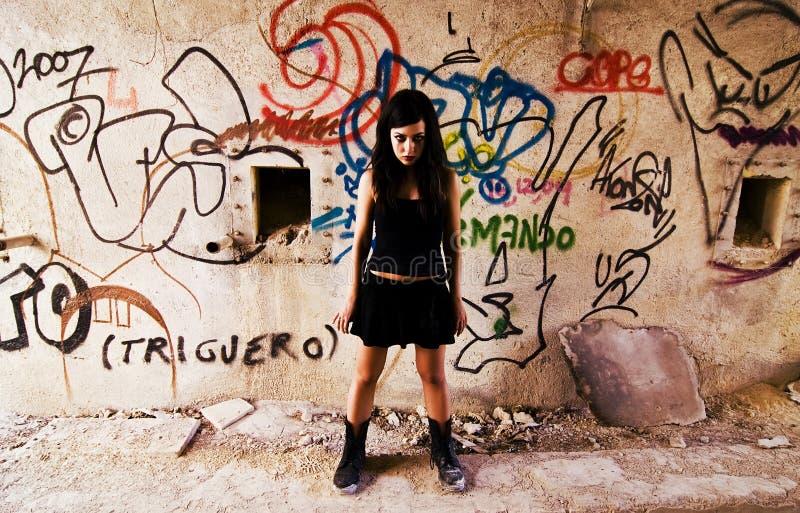 积极的goth妇女 图库摄影