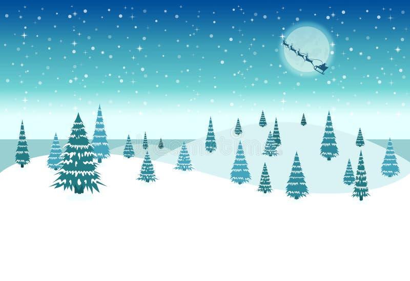 积雪的圣诞夜 库存照片