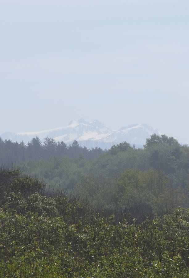 积雪的奥林匹斯山看法  库存图片