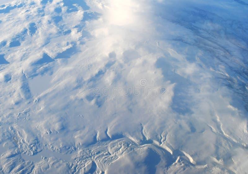 积雪的挪威从上面 库存照片