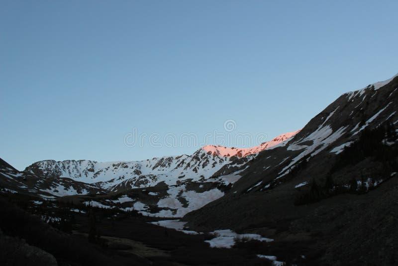 积雪的科罗拉多落矶山 Mt 密苏里, Sawatch范围 库存图片