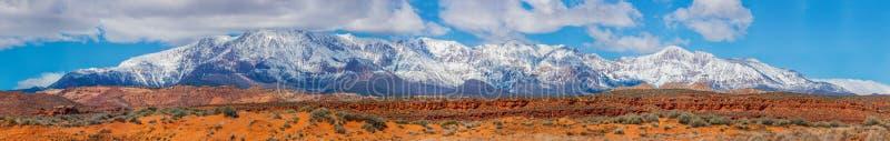 积雪覆盖的山在犹他,美国 库存图片