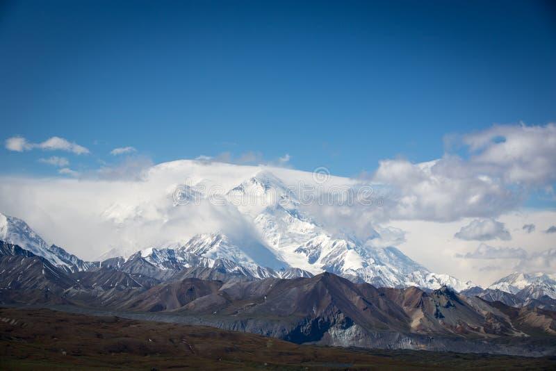 积雪覆盖的Mt 麦金莱 库存照片
