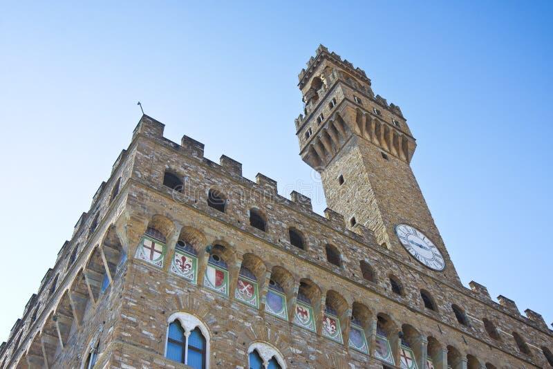 称'主权的宫殿'或'老宫殿的'著名宫殿意大利语叫的'palazzo vecchio'或'palazzo del的 免版税图库摄影