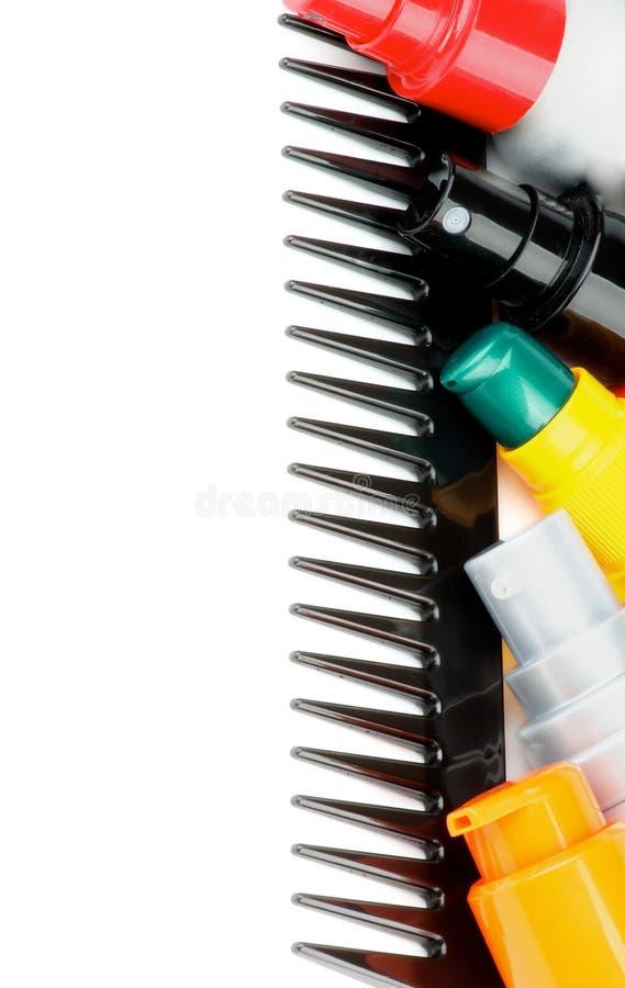 称呼产品的梳子和头发 库存照片