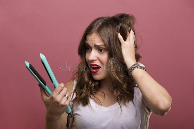 称呼头发 免版税库存图片