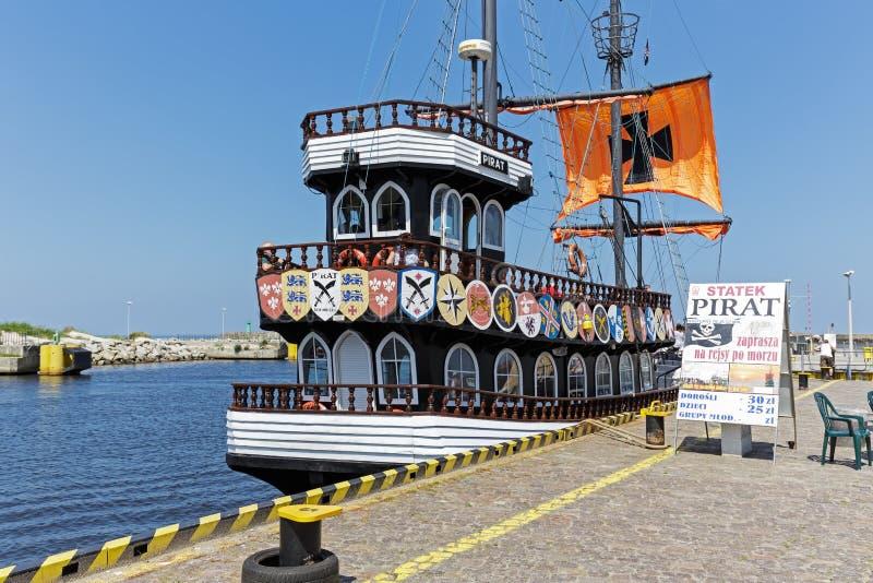称海盗的风格化游轮 免版税库存图片