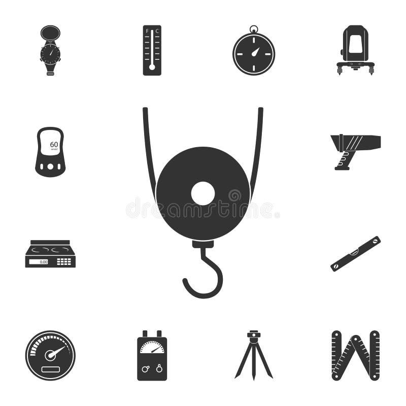 称象 简单的元素例证 标度从测量的汇集集合的标志设计 能用于网和机动性 向量例证