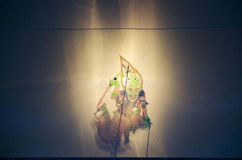 称Thai的阴影木偶Nang Talung是公众en的一个形式 库存照片
