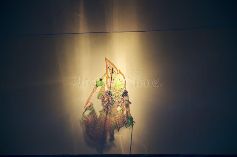 称Thai的阴影木偶Nang Talung是公众en的一个形式 图库摄影