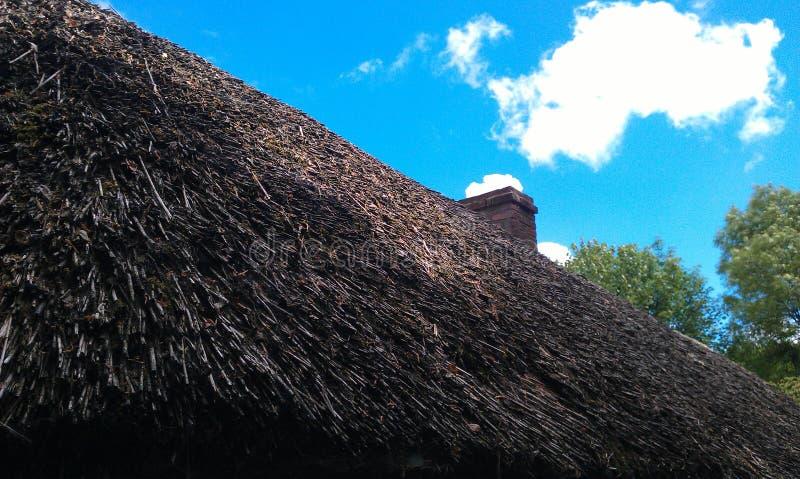 秸杆屋顶 库存图片
