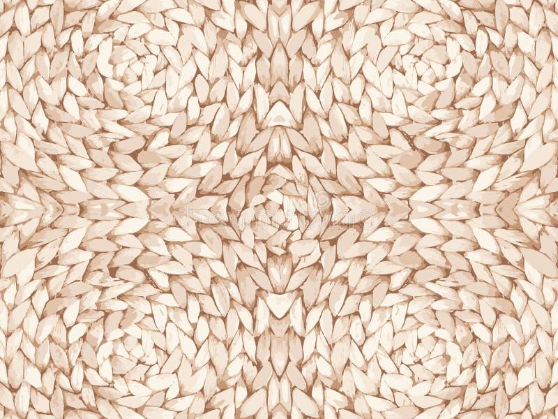 秸杆样式纹理重复无缝 自然被编织的秸杆背景 免版税库存照片