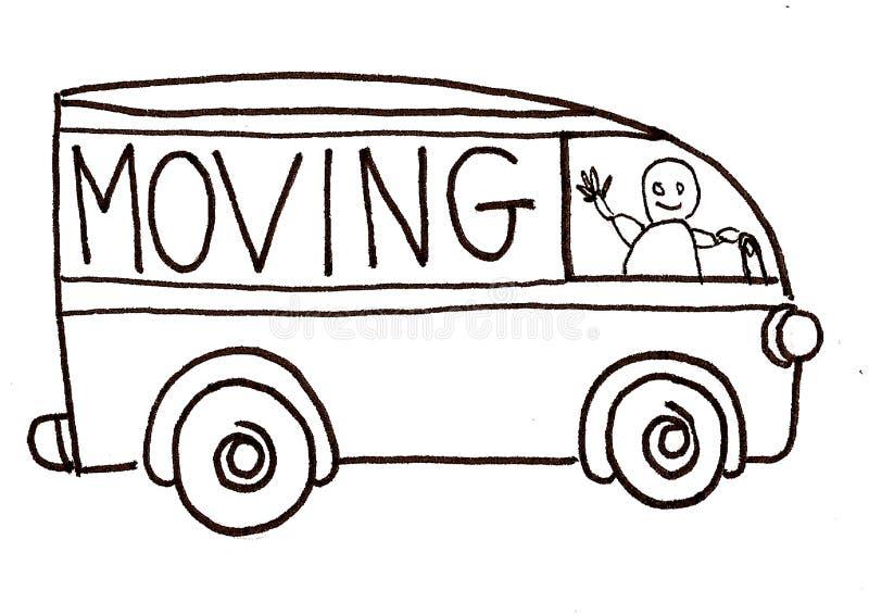 移动卡车向量 向量例证