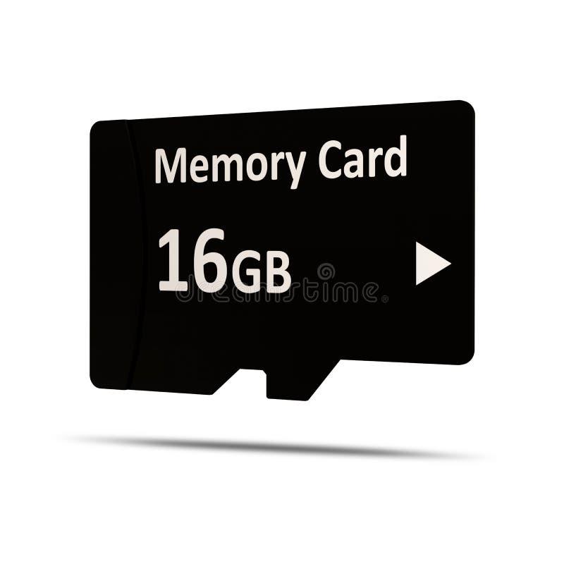 移动存储卡和适配器 库存例证