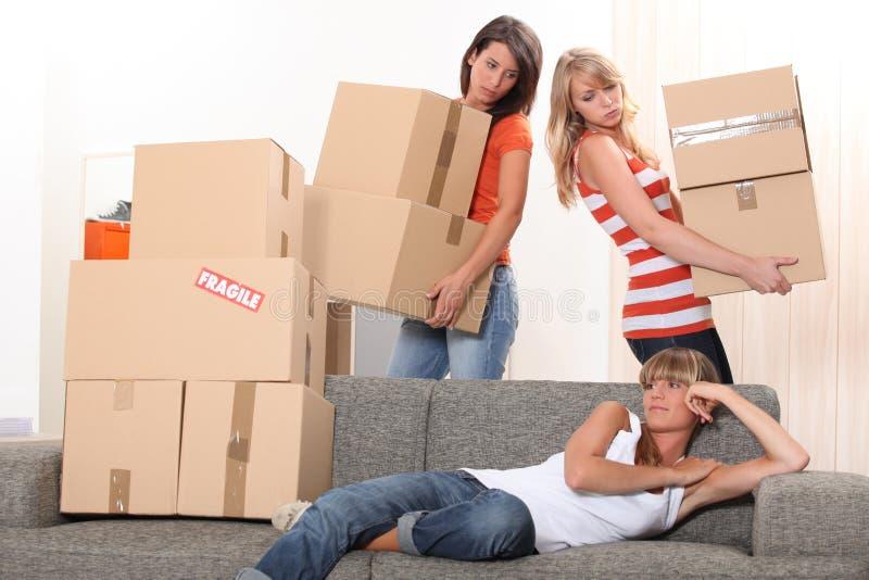 移动房子 库存图片