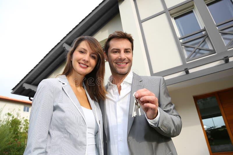 移动新的家 免版税库存图片