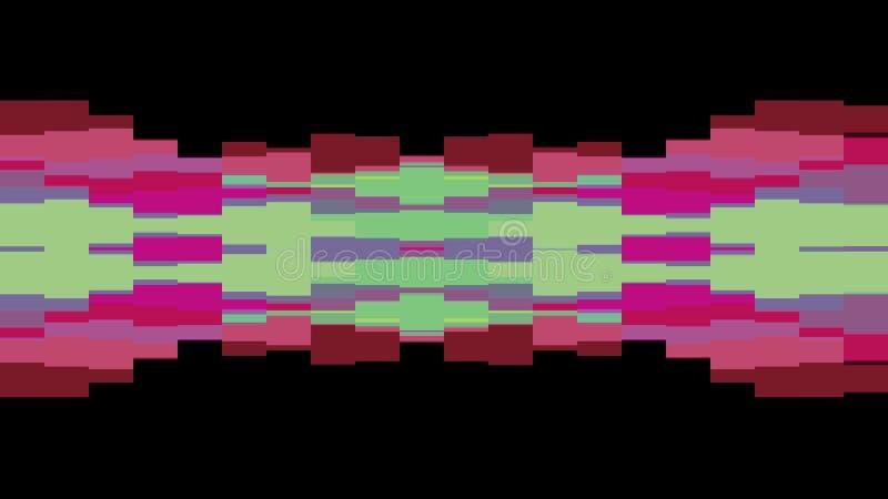 移动无缝的圈背景动画2新的质量普遍行动动力学的抽象映象点块给减速火箭赋予生命 向量例证