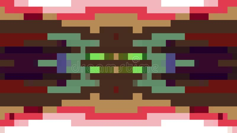 移动无缝的圈背景动画12新的质量普遍行动动力学的抽象映象点块给减速火箭赋予生命 皇族释放例证