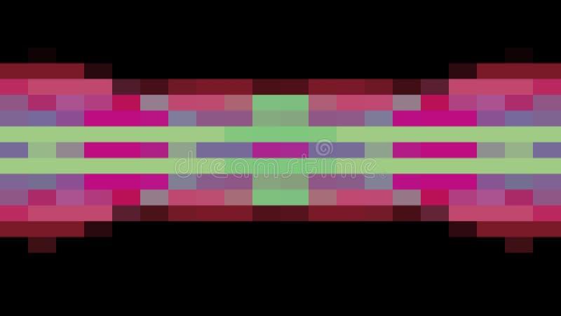 移动无缝的圈背景动画9新的质量普遍行动动力学的抽象映象点块给减速火箭赋予生命 向量例证