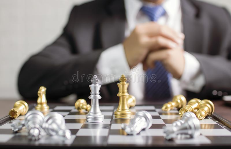移动棋的商人计划 图库摄影