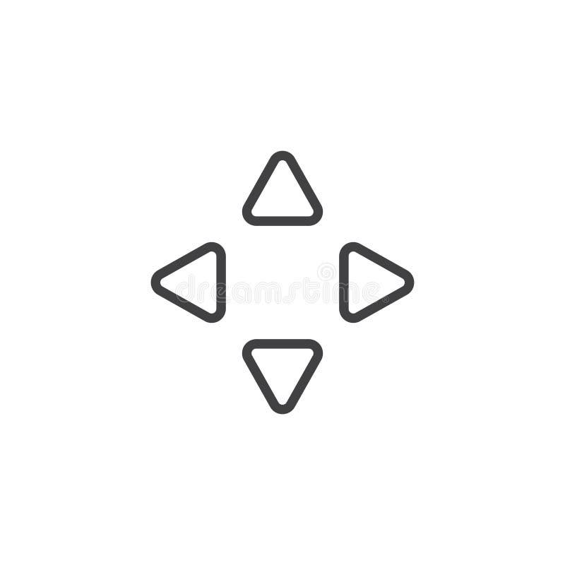 移动游标箭头排行象 向量例证