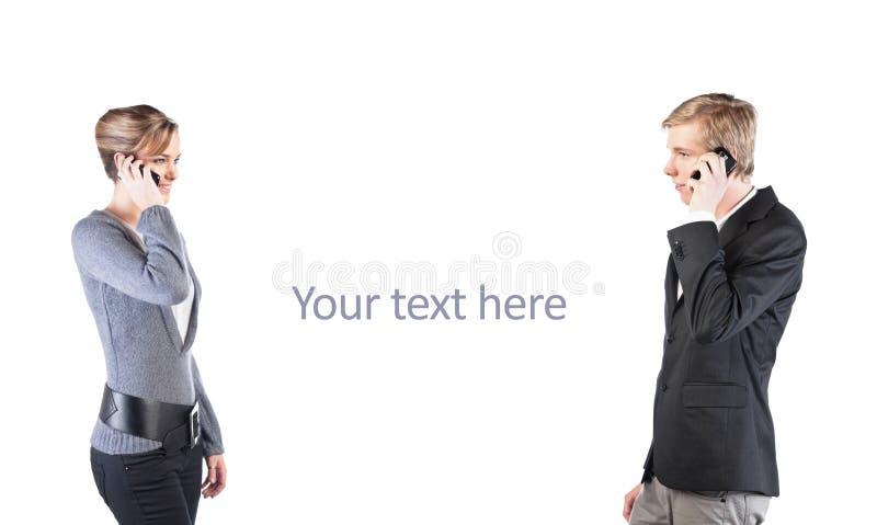 移动电话人妇女 库存图片