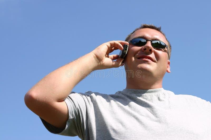 移动电话人 免版税库存图片