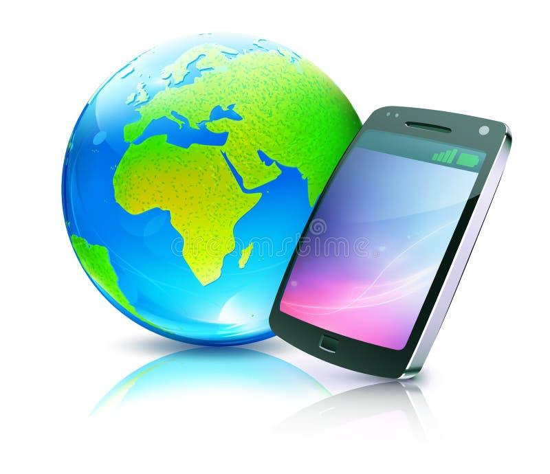 移动电话图标 向量例证