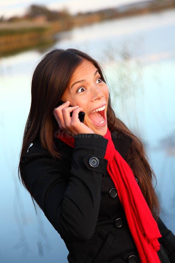 移动电话妇女 库存图片