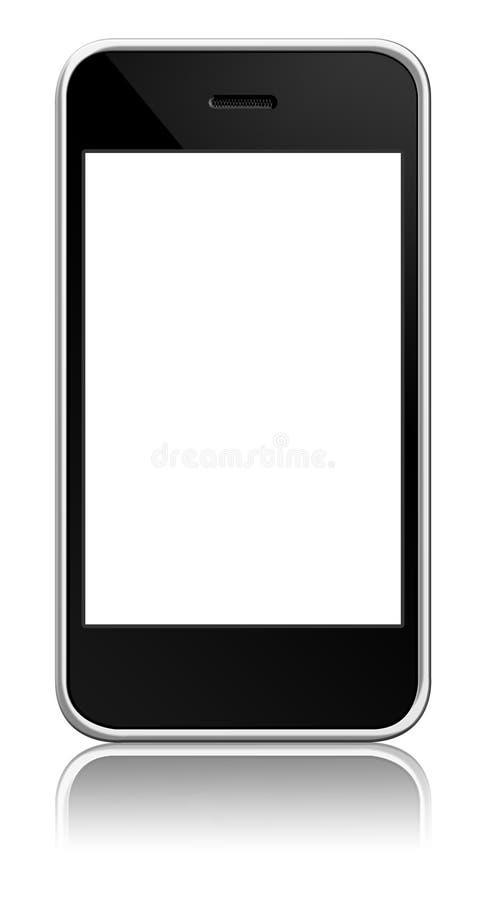移动电话屏幕接触 免版税库存图片