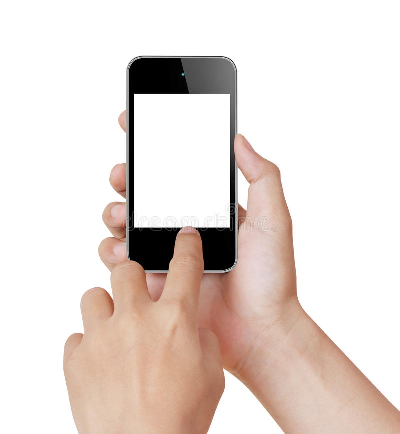 移动电话屏幕接触 库存照片