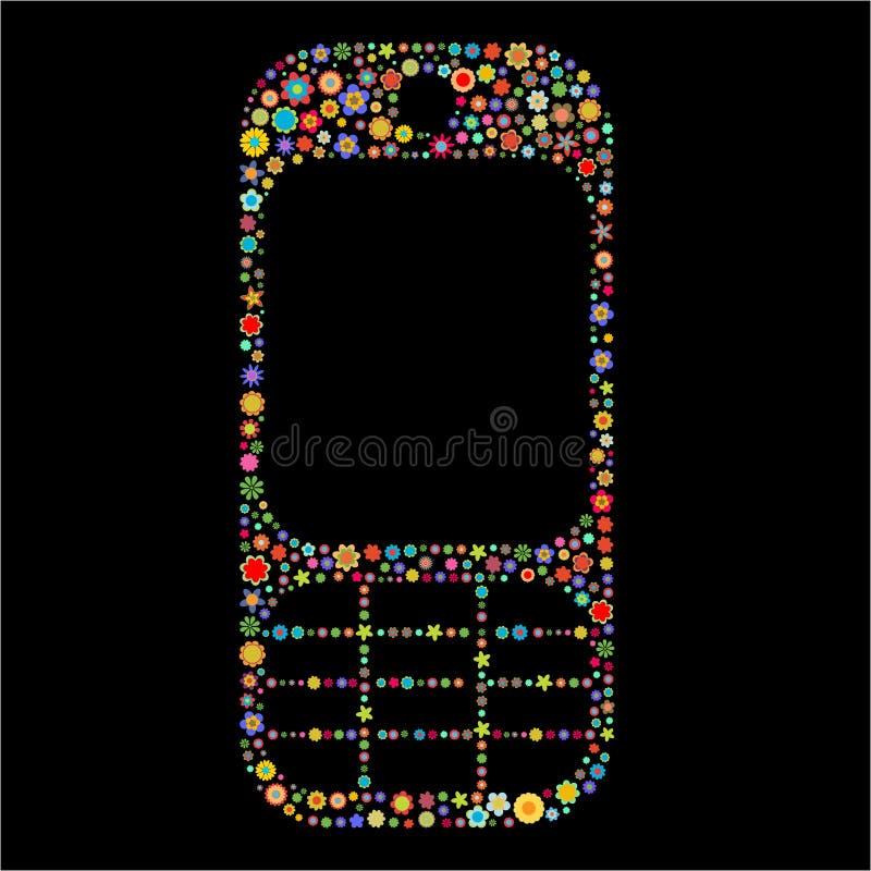 移动电话形状 向量例证