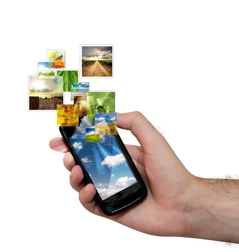 移动电话放出 免版税图库摄影