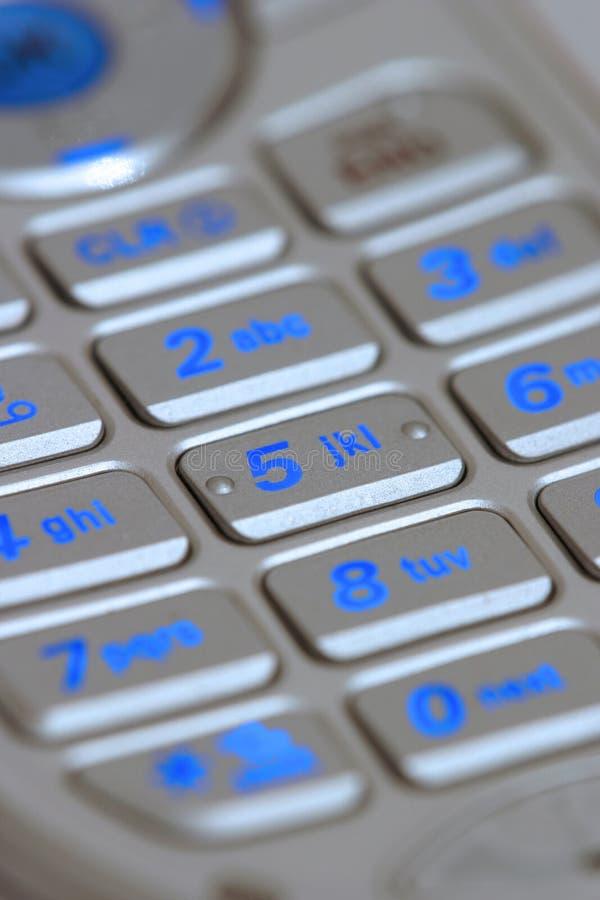 移动电话键盘 免版税库存图片