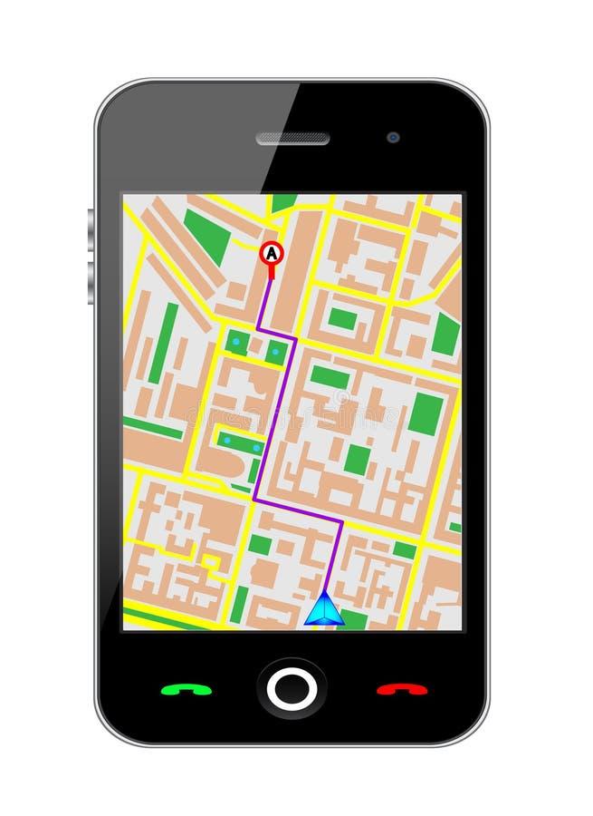 移动电话gps 向量例证